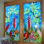 Beautiful stainglass in our room!