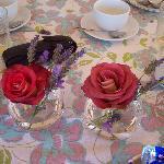 ontbijt mooie rozen