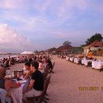 Jimbaran beach BBQ dinner