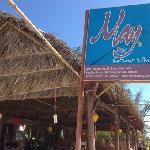 restaurant entrance from beach