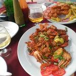Roast Crab and crumb fried calamari