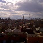 View from roof terrace of Riad 72