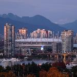 BC Place  seen from the balcony
