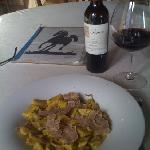 meat ravioli with white truffle and a spectacular Nebbiolo  D  Langhe
