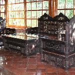 Zanzibari furniture in the lobby