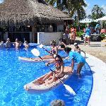 Kayak race in pool...fun times