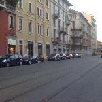 Tram near Piazza Aspromonte