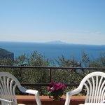 Panorama dalla terrazza del B&B