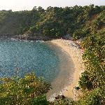 'La playa vista desde la villa