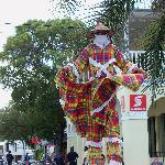 Street performer on Strand Street, Frederiksted