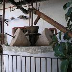 Old olive oil processing equipment at Hacienda Minerva