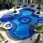 Pool from interior balcony
