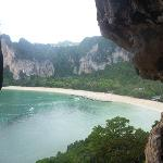 Cave from Phranang beach leads to here, looks out on Railay West beach