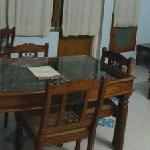 a small pnaoram, bedroom and living room of the service apt.