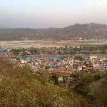 haridwar from top, better look the other side from the temple windows