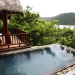 Living Room/Plunge Pool in Rock Villa