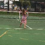 Tennis and basketball courts, you can hire the equipment cheaply.