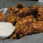 Wings with Buffalo Bacon Nacho Sauce