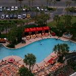 View of pool from the 15th floor