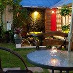 romantic rear garden area