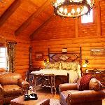 Log Cabin Cottage Bedroom
