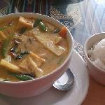 gang phet - red curry tofu thai hot