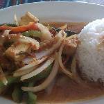 tofu pad ka pao thai hot