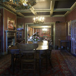 The front parlor is a magnificent setting for a large private party.