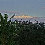 Snow-capped Mauna Kea from 2nd floor of B&B