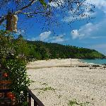 the beach from restaurant