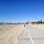 Beach bike path leading up to Chuck's.