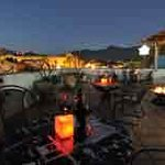 La Olla's terrace at night