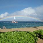 double rainbow Kaanapali Beach