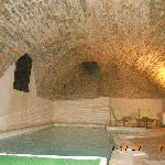 Vaulted pool room