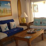Living area - loved all the surf art!
