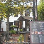 Courtyard shot with menu