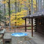 Large Deck and Hot Tub at the Swinging Vine
