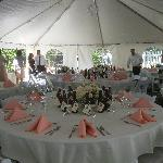Summer wedding at Centennial House
