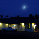 Mahina Cafe under the moon light