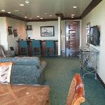 Living room of our suite