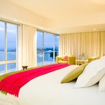 One of the rooms at Milkwood Bay - The Knysna Lagoon at twilight makes for a awe inspiring view.