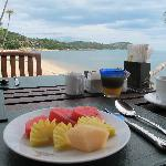 Breakfast from the terrace