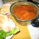 My soup and yummy sandwiches