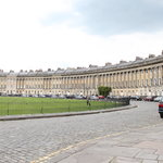 The Royal Crescent which houses the Hotel