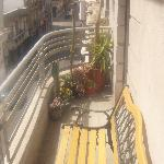 Casa Sarandi is a stone's throw from the Plaza de Independencia (the palm trees in the distance)