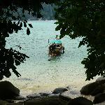 vu de la mer par le chemin cotier