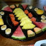 Fruchtplatte zum Frühstück