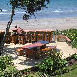 BBQ deck and Beach Bar & Beachfront Resort, Whitianga, The Coromandel,NZ