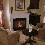 a suite with fireplace