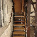 Treppe zum Anbau